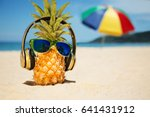 ripe attractive pineapple in... | Shutterstock . vector #641431912