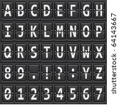 vector alphabet of black...   Shutterstock .eps vector #64143667