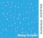 isolated vector water droplet... | Shutterstock .eps vector #641437426