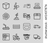 package icons set. set of 16... | Shutterstock .eps vector #641437876