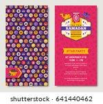 ramadan kareem two sides poster ... | Shutterstock .eps vector #641440462