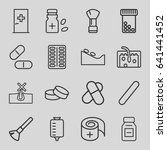 treatment icons set. set of 16... | Shutterstock .eps vector #641441452