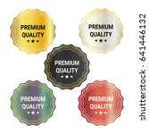 set of premium quality badge or ... | Shutterstock .eps vector #641446132