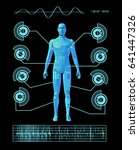 futuristic user interface 3d... | Shutterstock . vector #641447326