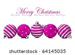 Five Pink Christmas Decoration...