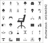 office chair icon. set of...
