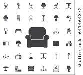 vector armchair icon. set of... | Shutterstock .eps vector #641464372