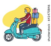 a man is riding his motorcycle... | Shutterstock .eps vector #641470846