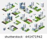 summer town quarter | Shutterstock . vector #641471962
