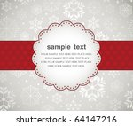 template frame design for xmas... | Shutterstock .eps vector #64147216