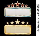 two vector blank billboards   Shutterstock .eps vector #64147390