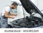 professional auto service... | Shutterstock . vector #641481265