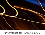 colorful abstract glowing twirl ... | Shutterstock . vector #641481772