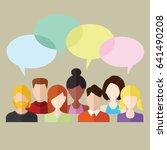 social and communication flat...   Shutterstock .eps vector #641490208