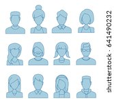 people icons  thin line style ... | Shutterstock .eps vector #641490232