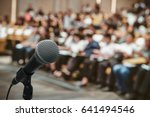 microphone over the abstract... | Shutterstock . vector #641494546