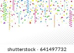 colorful serpentine and... | Shutterstock .eps vector #641497732