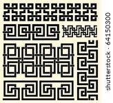vector set of celtic borders   Shutterstock .eps vector #64150300