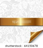 floral background with golden... | Shutterstock .eps vector #64150678