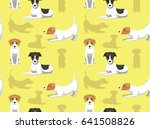 english dog wallpaper jack... | Shutterstock .eps vector #641508826