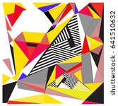 vector of triangle geometric... | Shutterstock .eps vector #641510632