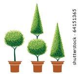 Stylized Trees In Pot