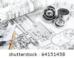 drawing detail and drawing tools | Shutterstock . vector #64151458