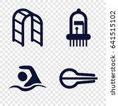 stroke icons set. set of 4... | Shutterstock .eps vector #641515102