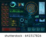 futuristic interface hud design ... | Shutterstock .eps vector #641517826