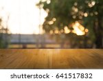 image of wood table in front of ... | Shutterstock . vector #641517832