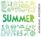 summer icon illustration doodle | Shutterstock .eps vector #641528026