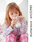 home portrait of child drinking ... | Shutterstock . vector #64152985