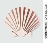 seashell vector illustration... | Shutterstock .eps vector #641537368