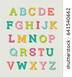 colorful hand drawn serif... | Shutterstock .eps vector #641540662