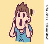 scared man | Shutterstock .eps vector #641545078