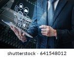 double exposure of asian... | Shutterstock . vector #641548012