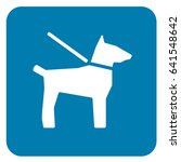 dogs on leash sign blue. vector. | Shutterstock .eps vector #641548642