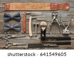 Vintage Barber Shop Tools On...