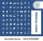 medical icon set | Shutterstock .eps vector #641550088