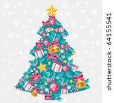 christmas tree | Shutterstock .eps vector #64155541