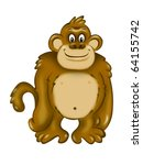 Funny Ape with happy smile - stock photo