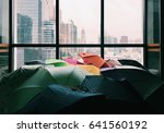 rainy day with colorful... | Shutterstock . vector #641560192