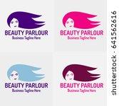 beauty parlor logo template