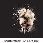 close up of beautiful... | Shutterstock .eps vector #641575102