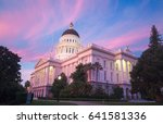 the state capitol of california ... | Shutterstock . vector #641581336