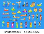 water pool sea fun activities... | Shutterstock .eps vector #641584222