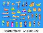 water pool sea fun activities... | Shutterstock .eps vector #641584222
