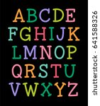 colorful serif uppercase... | Shutterstock .eps vector #641588326