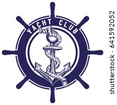 anchor and wheel emblem  sign ... | Shutterstock .eps vector #641592052