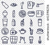 drink icons set. set of 25... | Shutterstock .eps vector #641598256